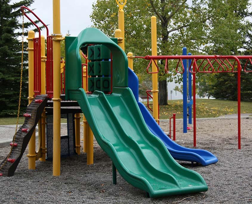 Kids play area outdoor and indoor